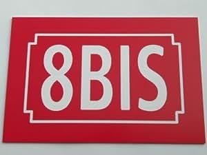 Número de calle rojo personalizada placa 150x 100tallada