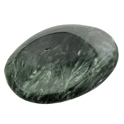 Seraphinite Thumb Stone