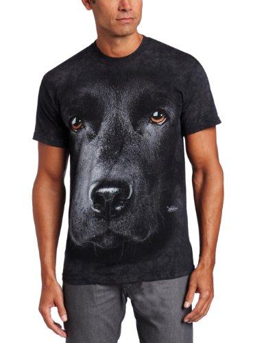 The Mountain Unisex Erwachsen Gr. M Schwarzer Labrador Hundegesicht T Shirt