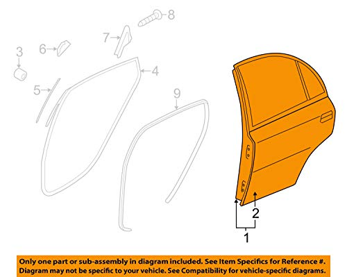 HYUNDAI OEM 15-17 Accent Rear Door-Shell Frame Panel Right ()