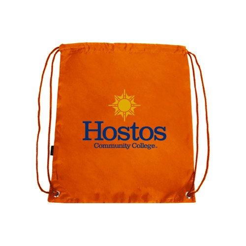 Hostos Community College Orange Drawstring Backpack 'Hostos Community College w/Sun' by CollegeFanGear
