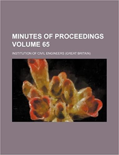 Book Minutes of proceedings Volume 65