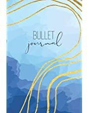 """Bullet Journal: Abstract Blue: Dot Grid Notebook - 6"""" x 9"""" 120 pages"""