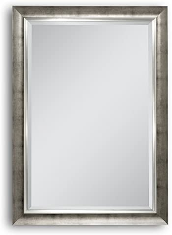 Head West 29.5 x 41.5 Brushed Champagne Wall Mirror
