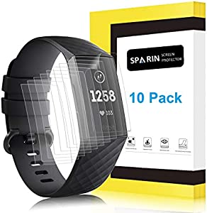 Sweepstakes: [10 Pack] Screen Protector for Fitbit Charge...