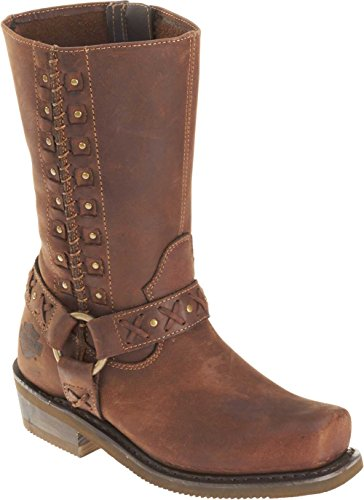 Harley-Davidson Women's Auburn Motorcycle Boot ,Tan,7 M US ()