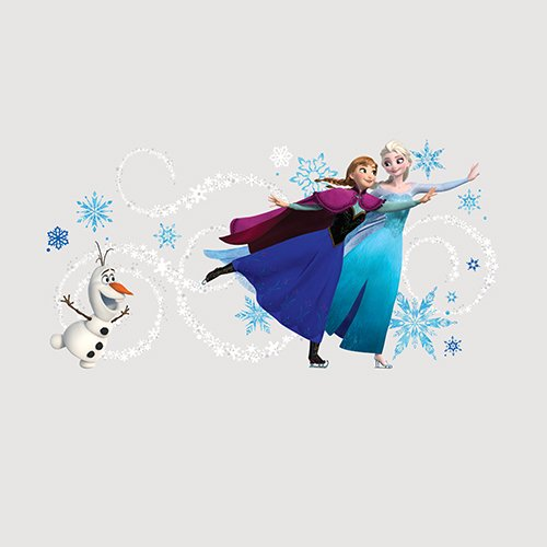 RoomMates Frozen Custom Headboard Featuring Elsa, Anna and Olaf Peel and Stick Giant Wall Decals
