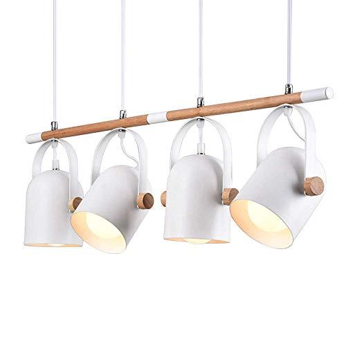 GLXDDB Nordic European 4/3/1 Heads Pendant Lights for Dinning Room Restaurant Modern Wooden Pendant Lamp Hanging Lights 110-240V Chandelier A+ (Size : 4 Head) ()