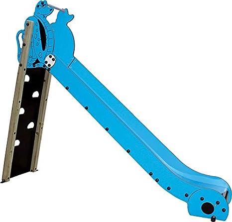 kidunivers – Tobogán homologados azul con muro de escalada ...