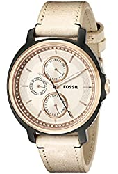 Fossil Women's ES3772 Chelsey Crystal-Accented Rose Gold-Tone Stainless Steel Watch