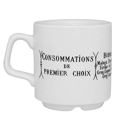(Pillivuyt Brasserie Mug, 9 Ounce)