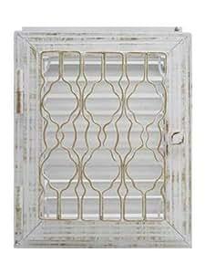 """HARK """"Lindau"""" 28 x 23 cm rejilla de ventilación, Blanco-Oro"""