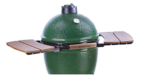 Composite Egg Mate Shelves for Small Big Green Egg - Authentic Big Green Egg Grill & Smoker Accessories are a Must for BGE Users. This Two Slat Double Side Shelf Adds Working Space. No Rot or Weathering.!