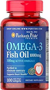 Puritan's Pride Omega-3 Fish Oil Food Supplement