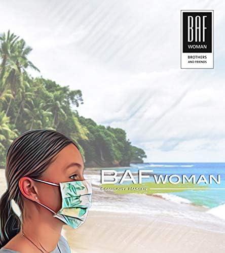 Cotton BAF 11/_Beige/_Style11/_OneSize Tissu Masque buccal et Nasal r/Ãutilisable