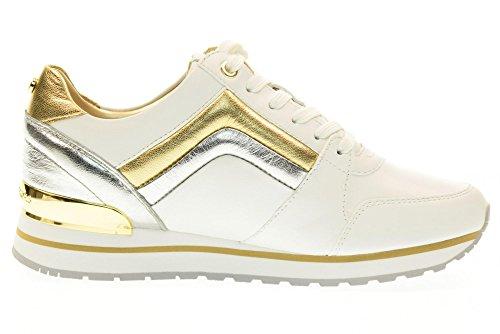 MICHAEL KORS donna sneakers bassa 43R7CNFS1L CONRAD TRAINER taglia 35 Bianco