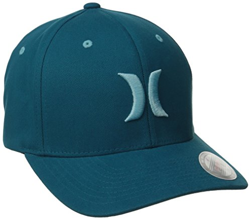 Hurley Men's One and Color Flexfit Hat, Blue Force, Small/Medium
