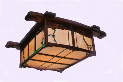 greene greene style ceiling light fixture craftsman lighting