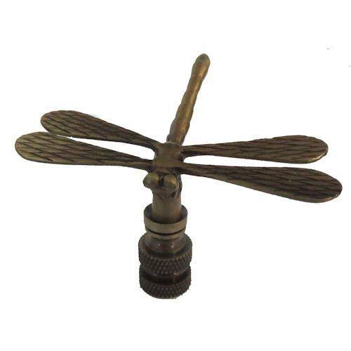BRASS  DRAGONFLY  ELECTRIC  LIGHTING  LAMP  SHADE  FINIAL NEW