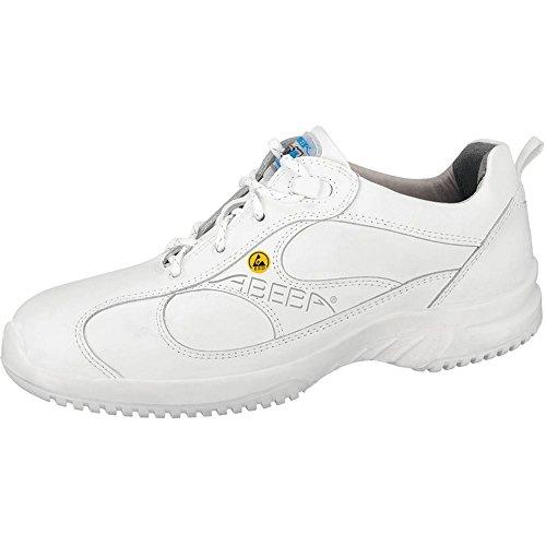 "Abeba 36750-42 talla 42"" Uni6 pulgada ESD-ocupacional zapatos bajo - blanco"