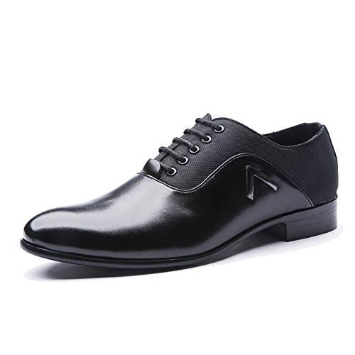 Rainlin Men's Classic Pointed Toe Lace up Dress Oxford Shoes