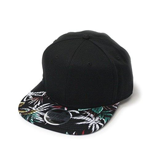 Galleon - Vintage Year Premium Floral Hawaiian Cotton Twill Adjustable  Snapback Baseball Caps (Palm Tree Black Black Flat) 17acbbddc40