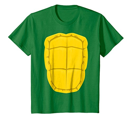 Kids Funny Turtle Shell Halloween Costume Shirt Gift Clever DIY 10 Kelly Green ()