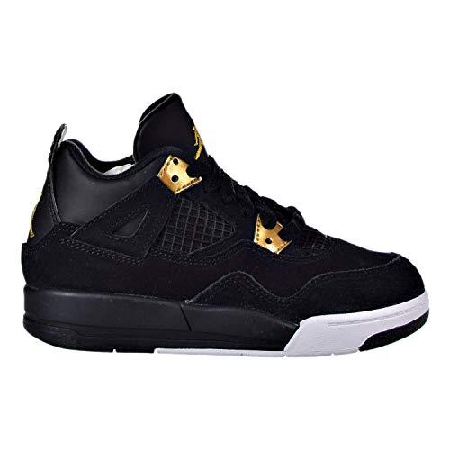 Boys' Toddler Jordan Retro 4 Basketball Shoes 308500-032 Black/Metallic Gold/White (10c)