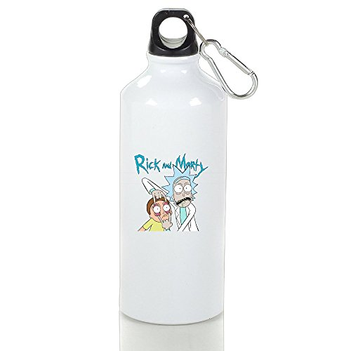 DW Rick And Morty Stainless Steel Sports Drinking Bottle With Stopper And Carabineer Clip - Suitable For Gyms, Biking, Camping And Outdoor Sports - 500ml (Tampa Bay Cycling)