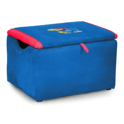 Kidz World Upholstered Storage Bench Toy Box University of Kansas by Kidz World