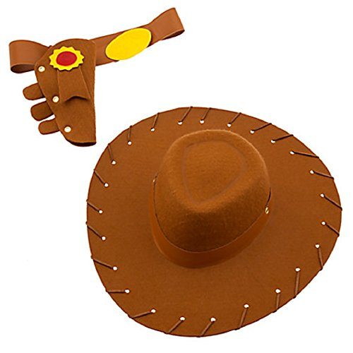 [DISNEY STORE TOY STORY WOODY ACCESSORY SET - HAT BELT HOLSTER ~ 2016] (Woody Costume Hat)