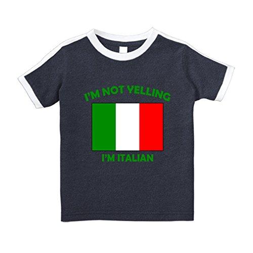 Italian Italy Cotton Short Sleeve Crewneck Unisex Toddler T-Shirt Soccer Tee - Navy, 2T ()