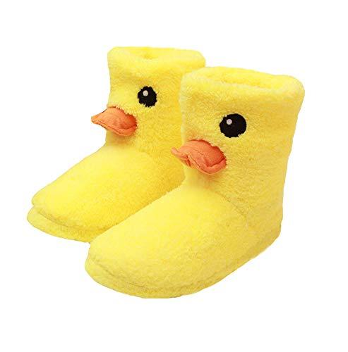 seemehappy Lovely Duck Slippers Winter Warm Slippers for Women (7-9) (B) ()
