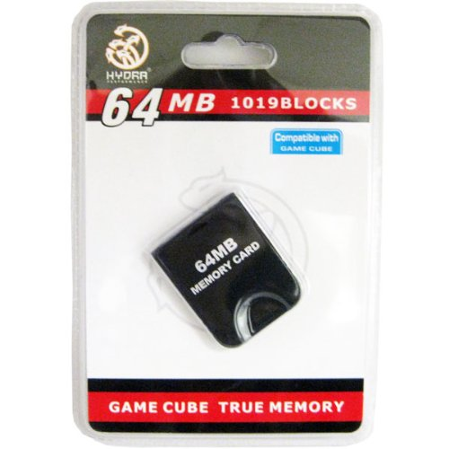 64MB 1019 Block Memory Card compatible for Wii & Gamecube (Gamecube Memory Card 64)