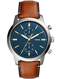 Men's Townsman Quartz Leather Chronograph Watch, Color: Brown (Model: FS5279)