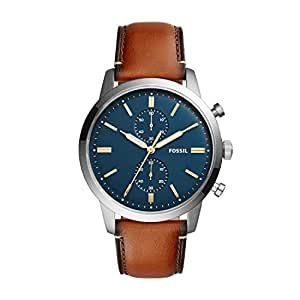 Fossil Mens Quartz Watch, Analog Display and Leather Strap FS5279