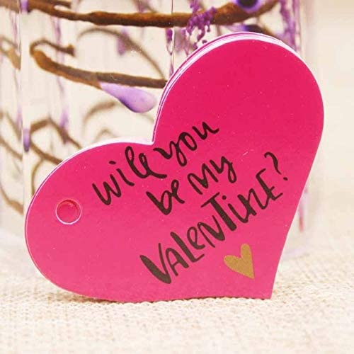 B07VD7K6RB OBELLA BOUTIQUE Feiluan 1000pc gold foil love wedding tag card DIY paper handmade gift swing hang tag card pink heart married favors tag card 41Qy1wnfvGL