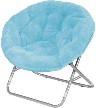 Mainstay.. Faux Fur Saucer Chair, Light Blue: Amazon.co.uk