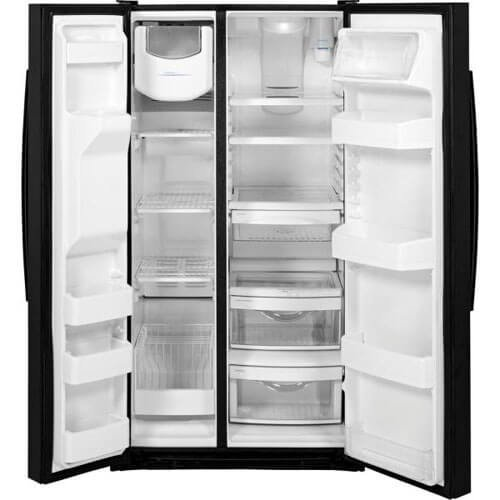 GE GSS25GGHBB 25.4 Cu. Ft. Side-by-Side Refrigerator High-Gloss Black