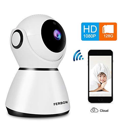 Wireless WiFi 1080P HD Camera Home Indoor IP Security Surveillance Camera with Night Vision 2-Way Audio for Baby Pet Remote Monitor with iOS Android Cloud Service Available