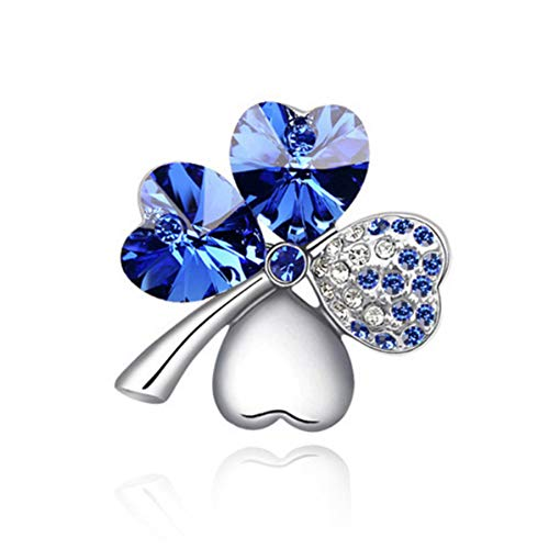 Four Leaf Clover Costume (MJULY St.Patrick's Day Good Luck Charm Four Leaf Clover Shamrock Clover Pin Brooch Costume Jewelry)