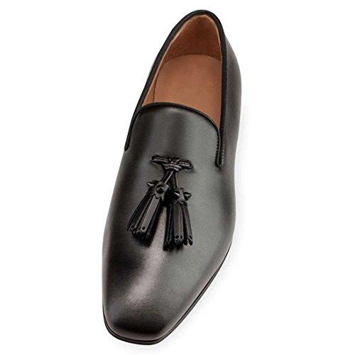 Cuckoo Men's Slip On Dress Shoes Tassels Loafers Oxford Black cLYofyNJuZ