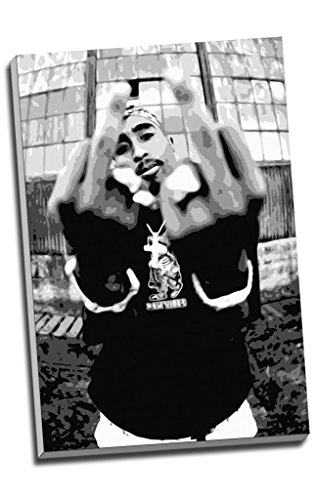 Tupac Shakur 2Pac Hip Hop Canvas Print Wall Art Picture Canvas Prints Large A1 30 X 20 Inches  76 2Cm X 50 8Cm