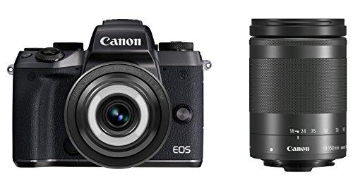 Canon ミラーレス一眼カメラ EOS M5 クリエイティブマクロ ダブルレンズキット EF-M28mmF3.5IS EF-M18-150mm F3.5-6.3 IS付属 EOSM5-CMWLK