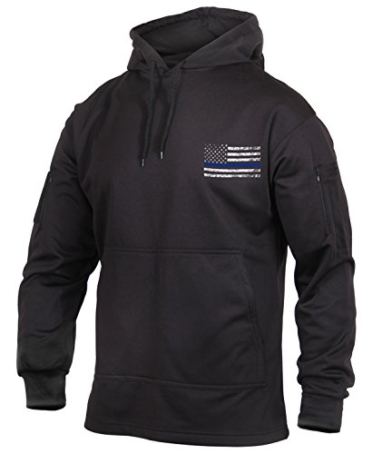 Rothco Thin Blue Line Concealed Carry Hoodie, Black, Large