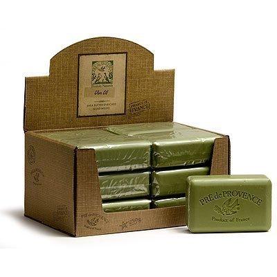 Olive Oil Case (Case of 12 bars Pre de Provence 250g 72% Olive Oil - Unscented Shea Butter Enriched Triple Milled Soap)