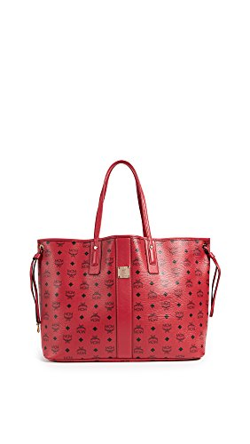 MCM Women's Large Liz Shopper Tote, Ruby, One Size by MCM