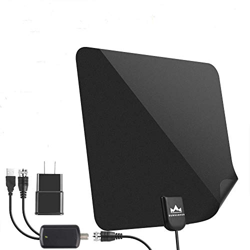 【2019 Latest】 HDTV Antenna Indoor Digital TV Antenna, DUMSAMKER 60-80 Miles Range HD Antenna with Amplifier Signal Booster and 13FT Coaxial Cable - Extremely High Reception (Hdtv Antenna Digital)