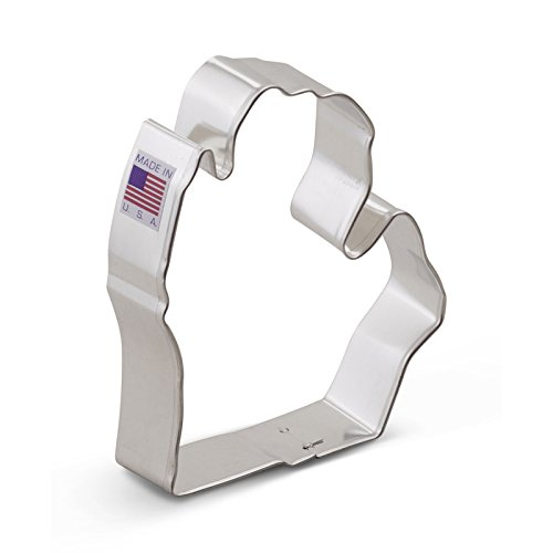 Ann Clark Michigan Lower Cookie Cutter - 3.75 Inches - Tin Plated Steel