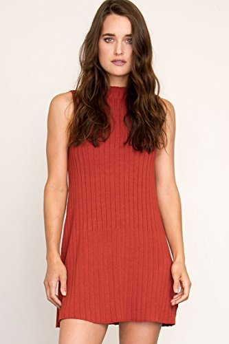 RVCA Juniors Banked High Neck Swing Sweater Dress, Red Ru...